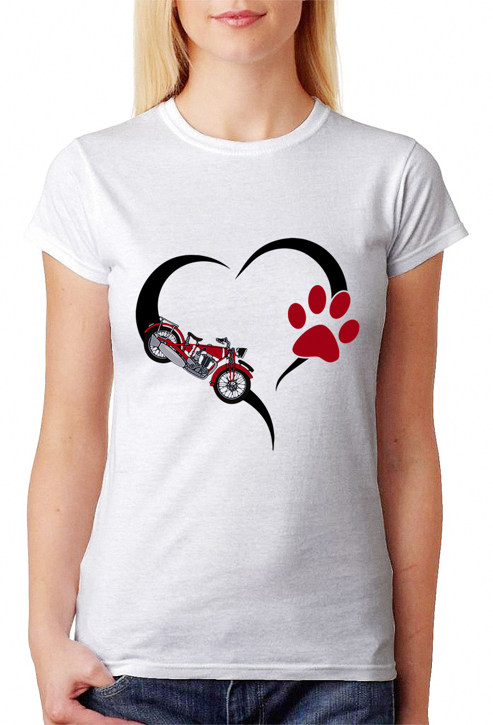 Motorcycle Love Dog Paw Shirt Hoodie Sweater And V Neck