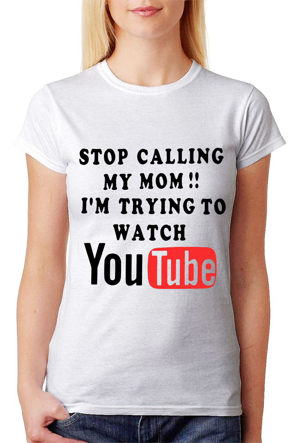 stop calling my mom i 39 m trying to watch youtube shirt and hoodie. Black Bedroom Furniture Sets. Home Design Ideas